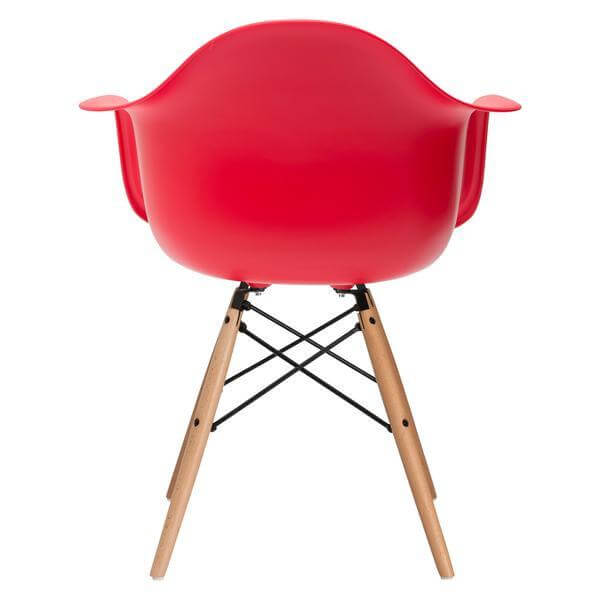 red ceremony armchair