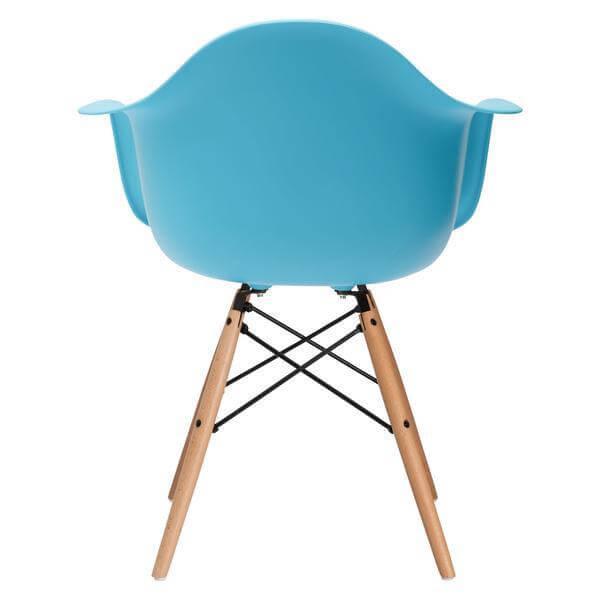 sky blue armchair