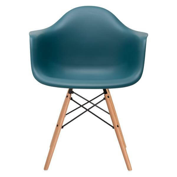 teal ceremony wood armchair