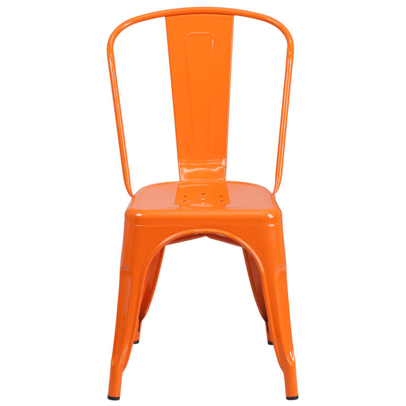 tonic metal chair orange