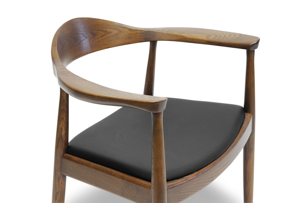 walnut wood 1919 mid century chair