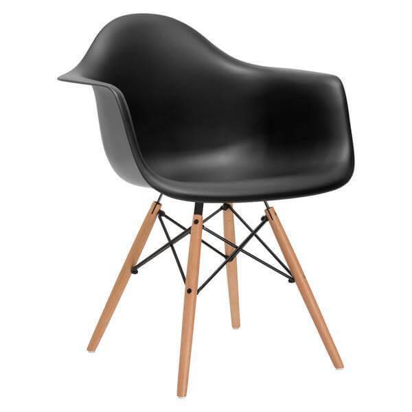 wooden black armchair