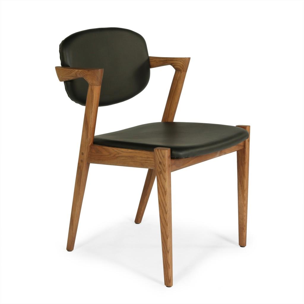 Black Leather Avalon Chair 2