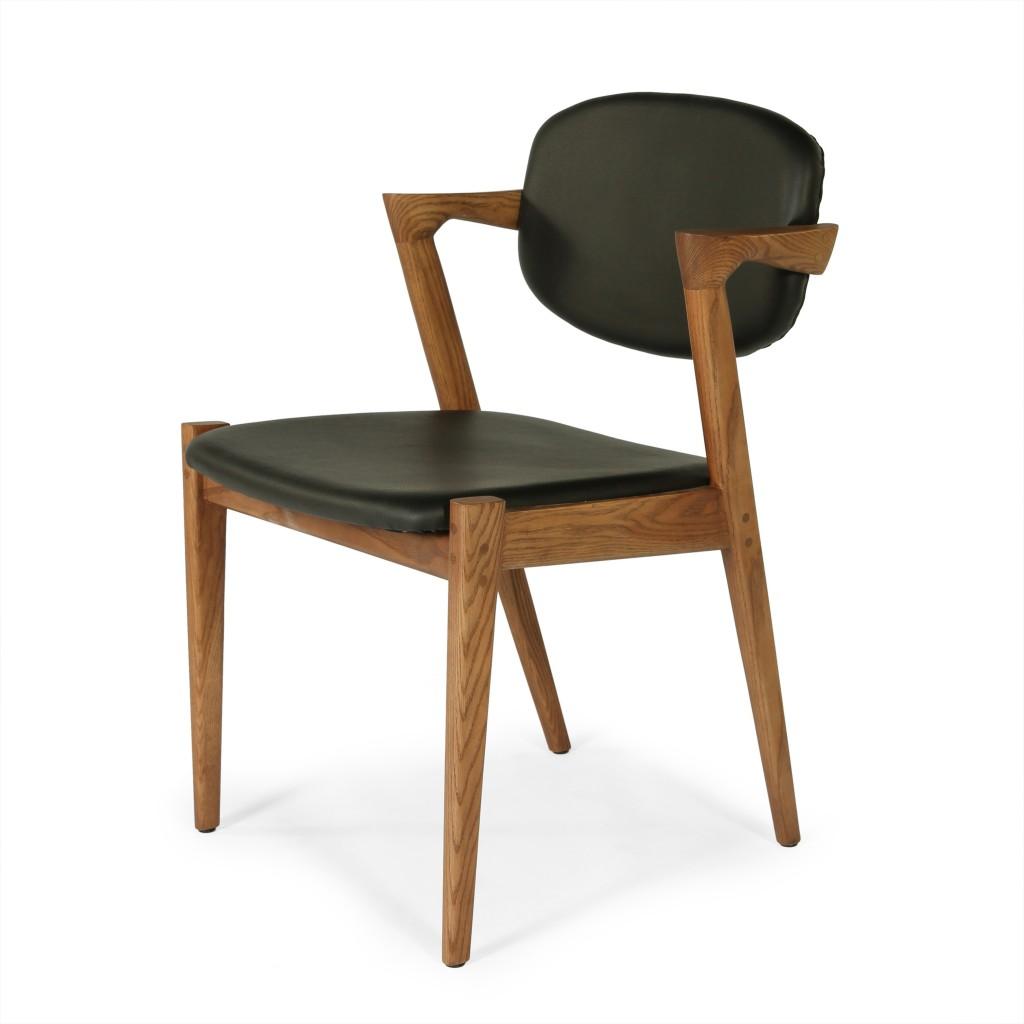 Black Leather Avalon Chair 3