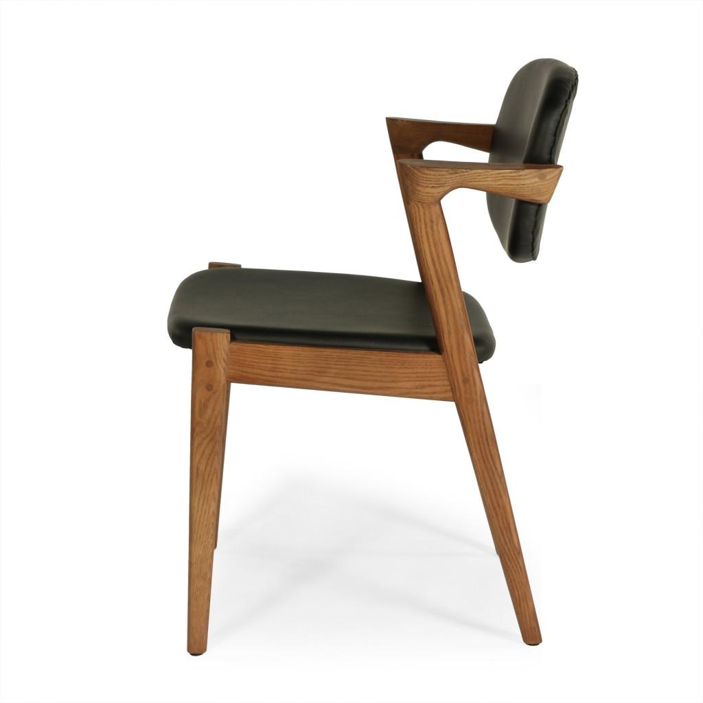 Black Leather Avalon Chair 4