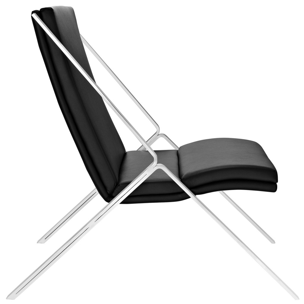 Black Leather Balance Rocking Chair 2