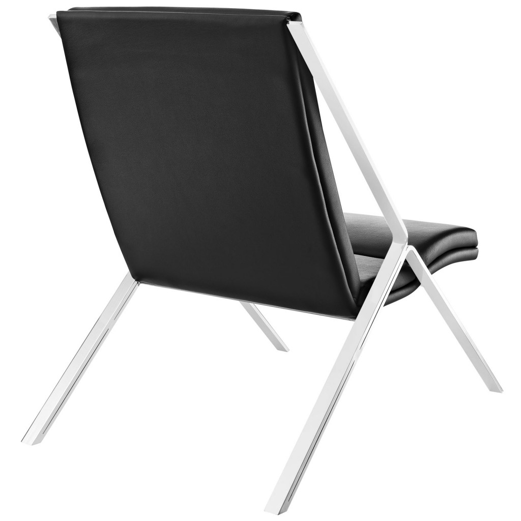 Black Leather Balance Rocking Chair 3