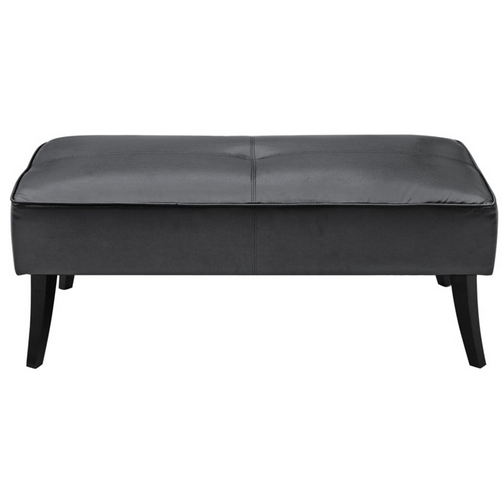 Black Leather Bleeker Ottoman 2