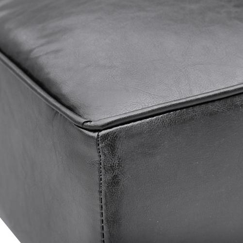 Black Leather Bleeker Ottoman 5