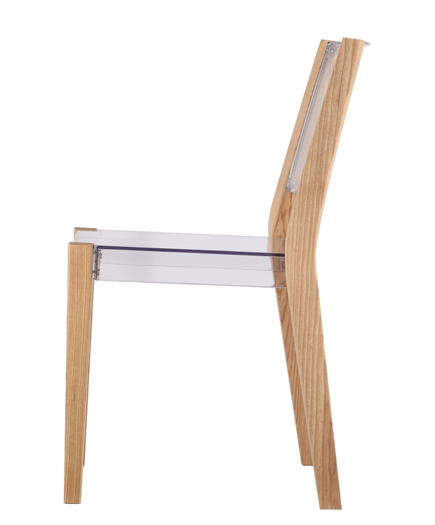 Clear Wood Square Chair 5