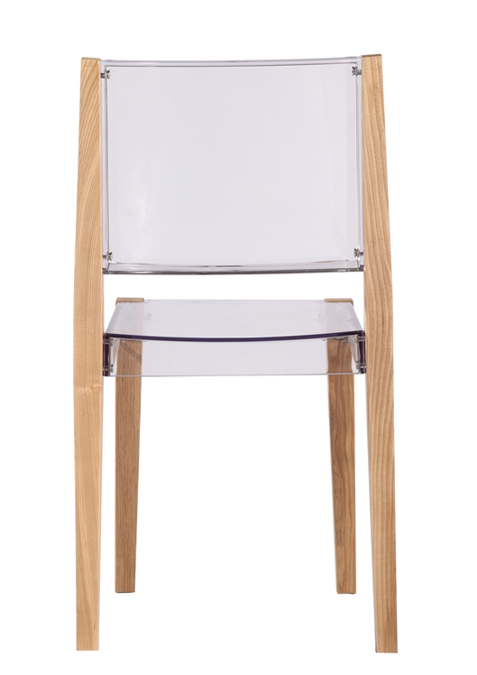 Clear Wood Square Chair 6