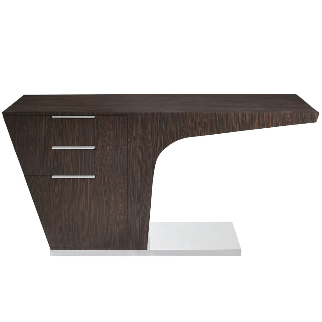 Walnut Streamline Desk 2