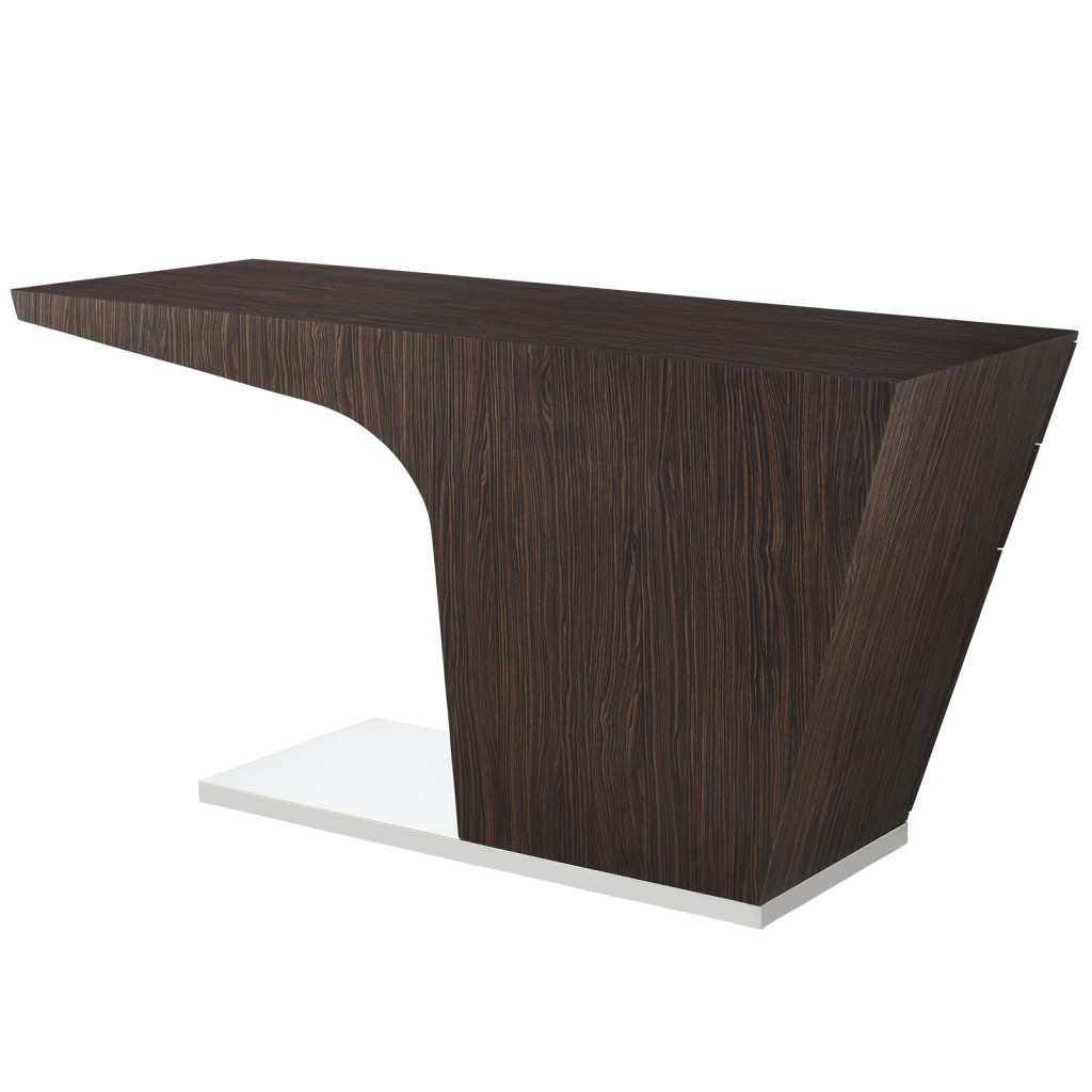 Walnut Streamline Desk 3