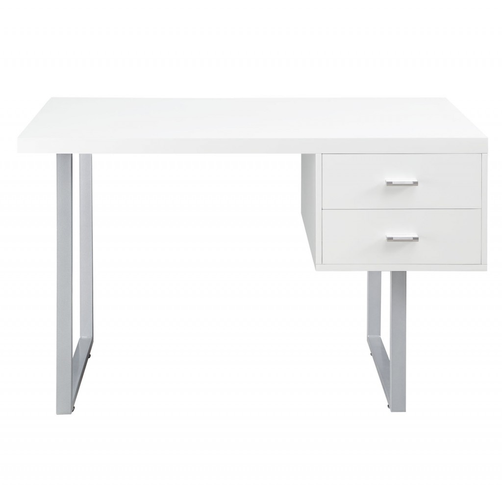 White Cubist Desk 2
