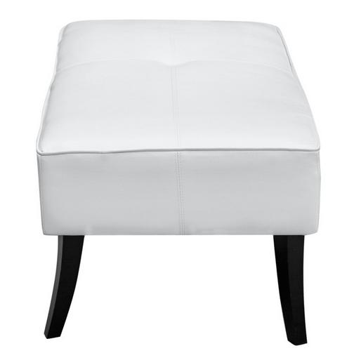 White Leather Bleeker Ottoman 3