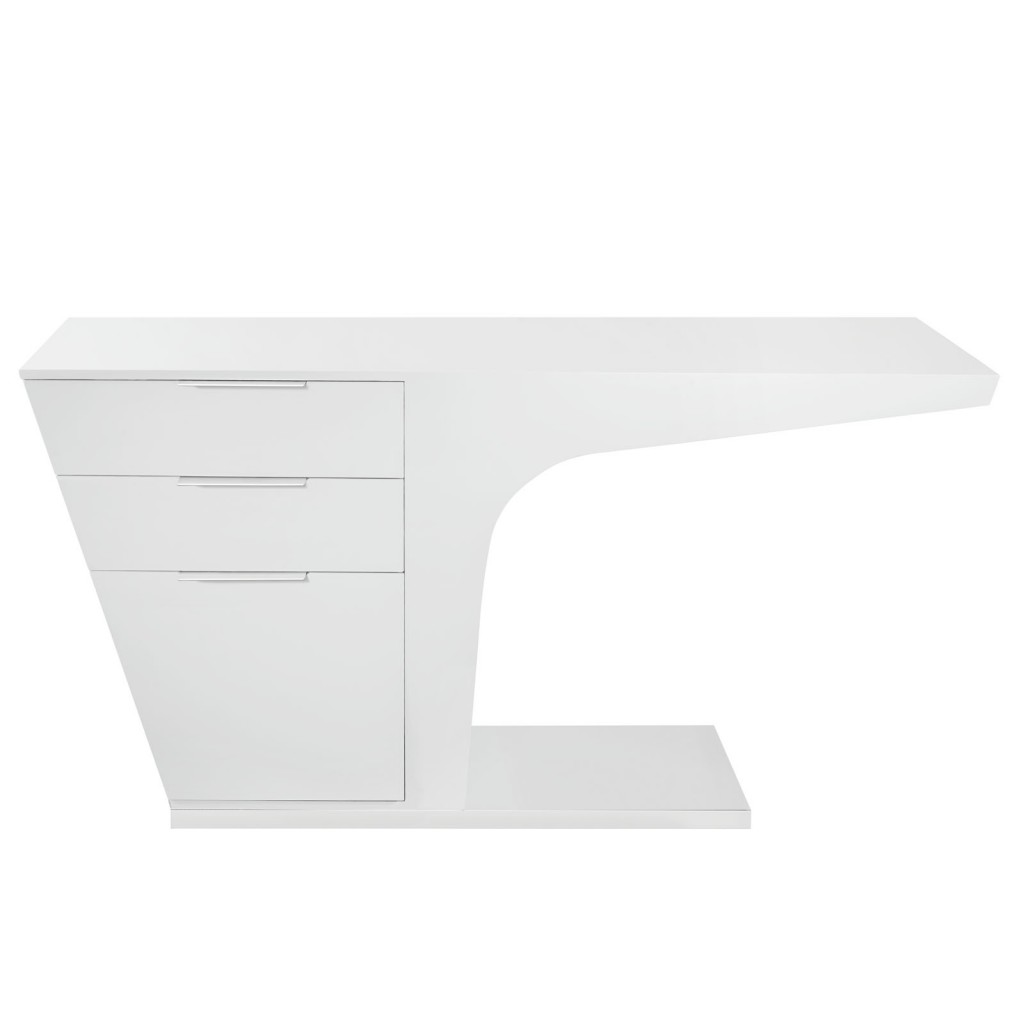 White Streamline Desk 2