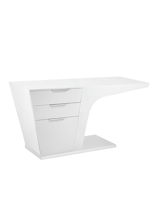 White Streamline Desk1