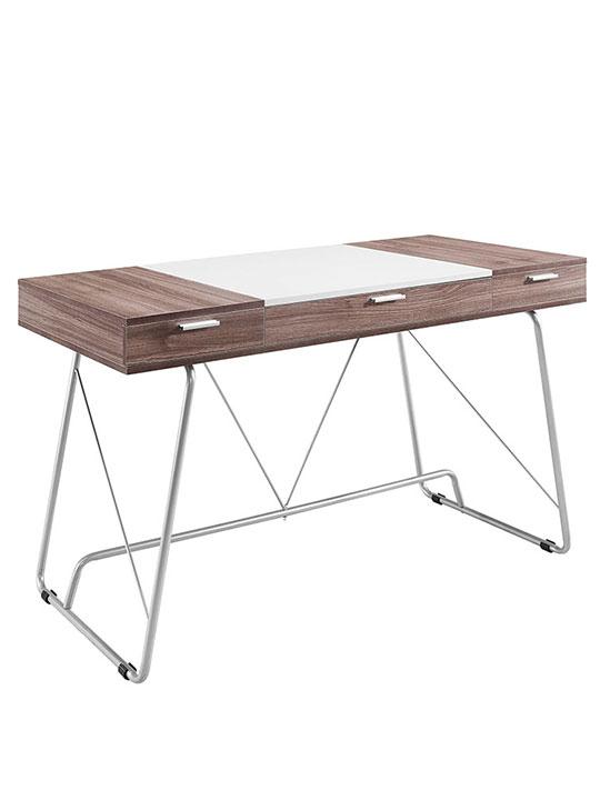 format walnut white desk