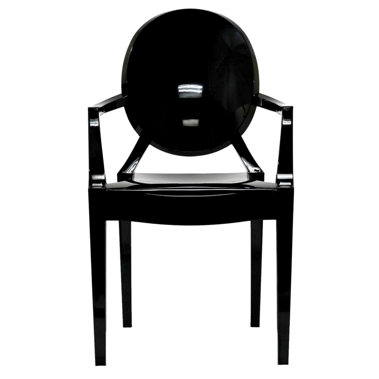 Black Throne Chair Ghost Chair
