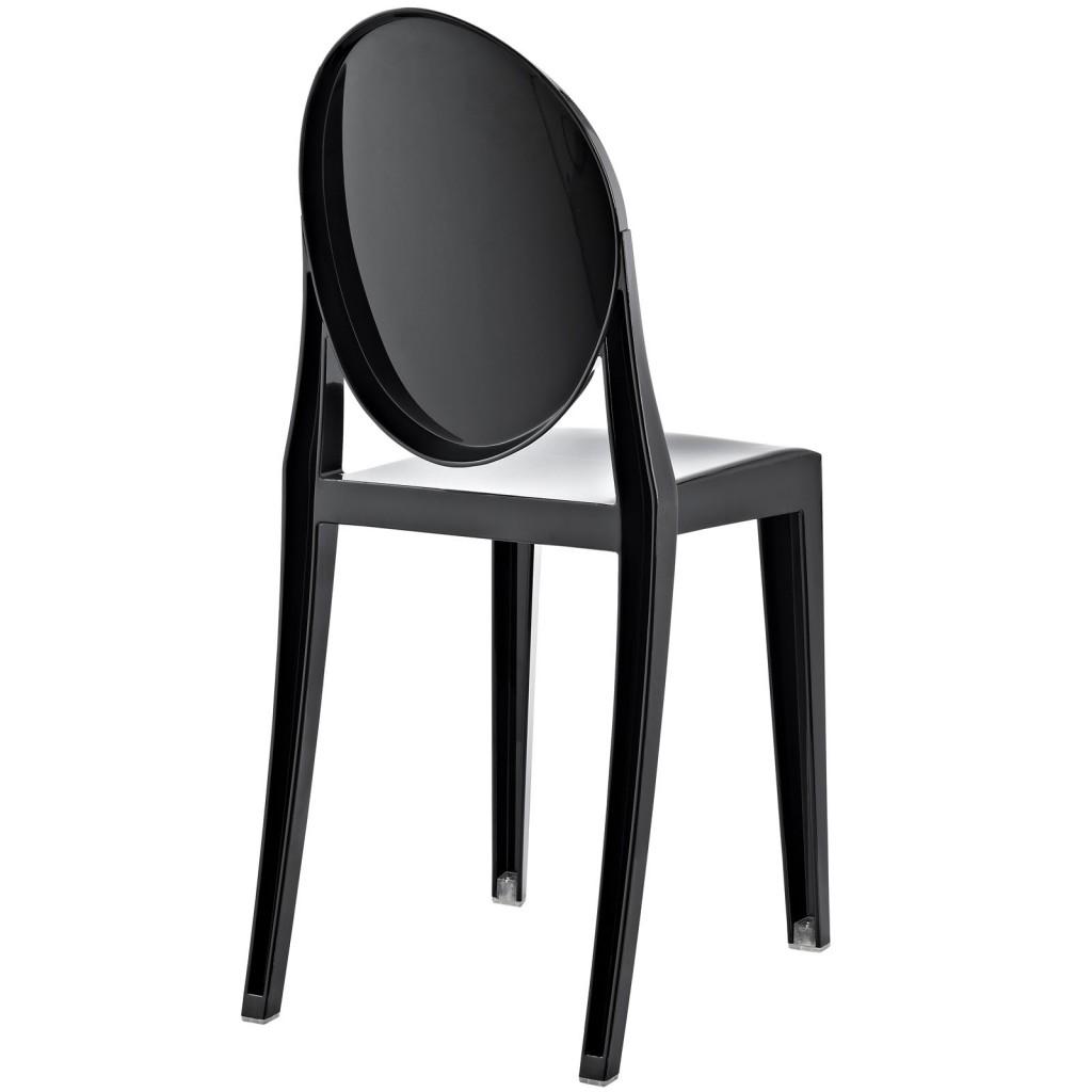 Black Throne Side Chair