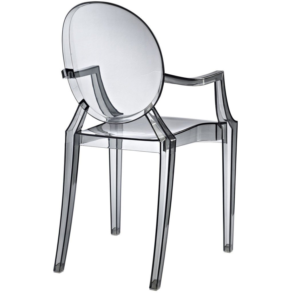 Gray Transparent Throne Chair 3