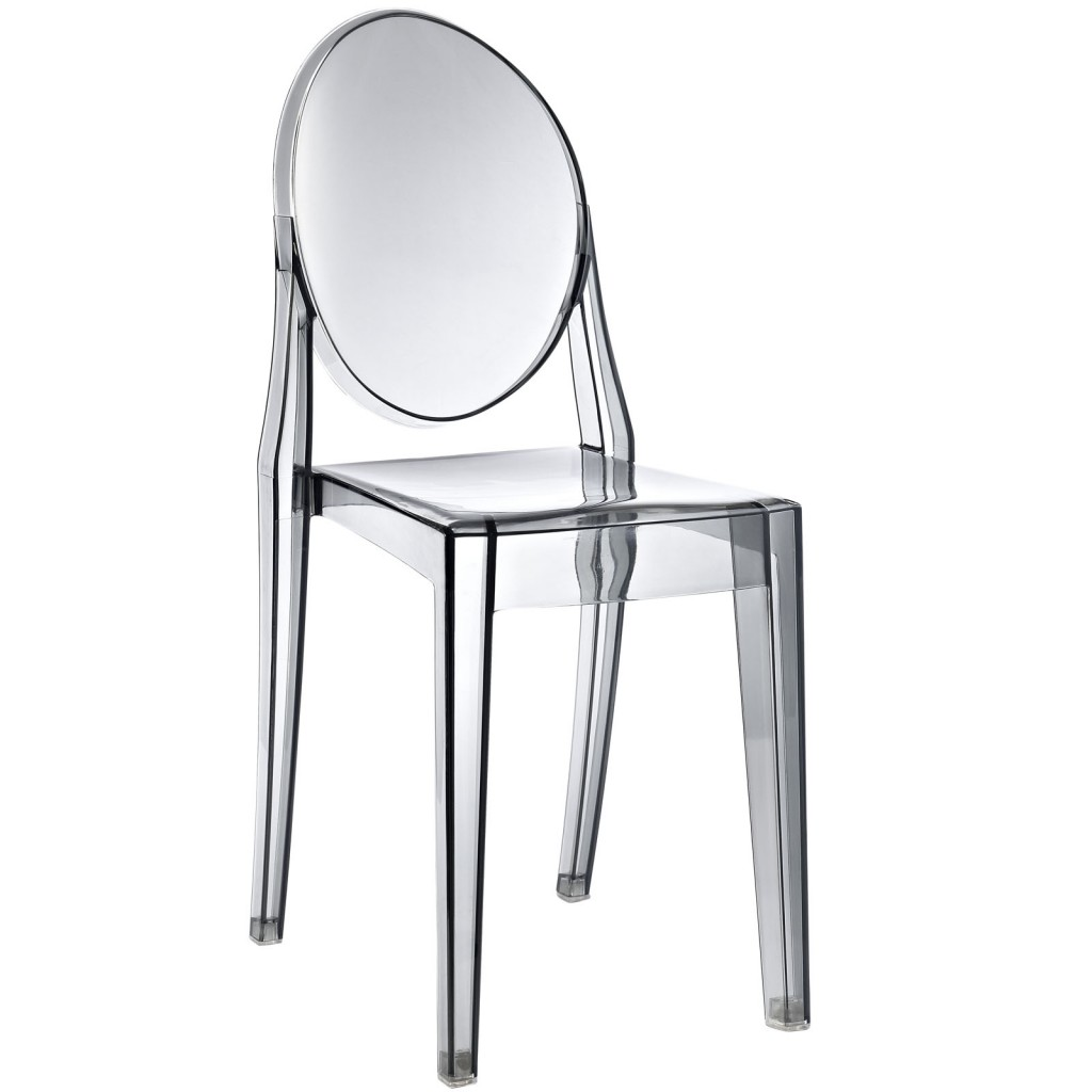 Gray Transparent Throne Side Chair 3