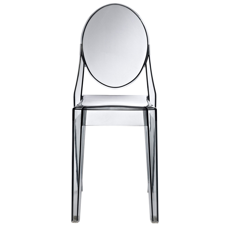 Gray Transparent Throne Side Chair1