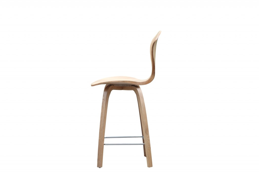 Natural Wood Spider Barstool 3