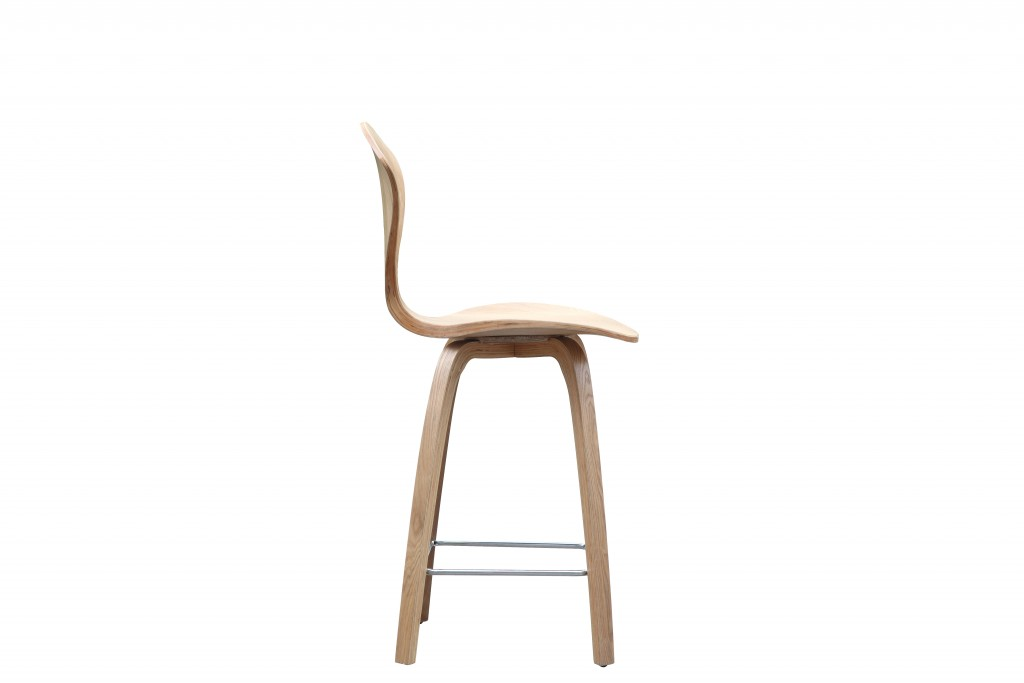 Natural Wood Spider Barstool 4