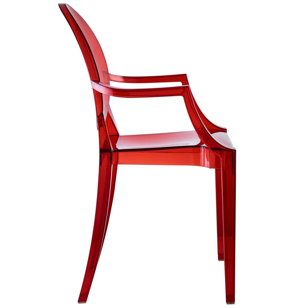 Red Transparent Throne Chair 3