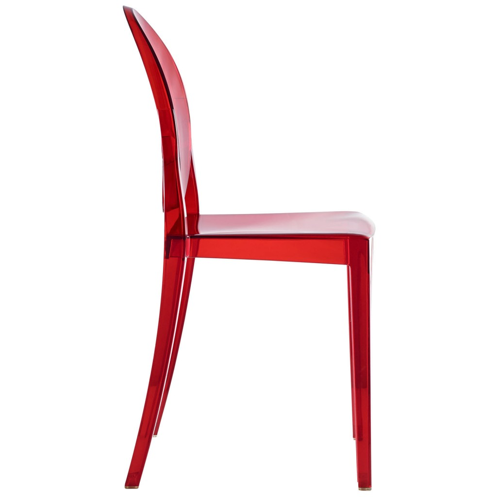 Red Transparent Throne Side Chair 3