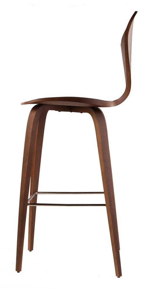 Spider Bar Stool Walnut Wood 3