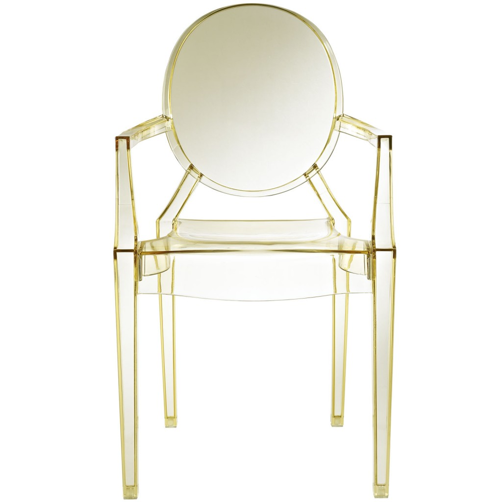 Transparent Yellow Throne Chair
