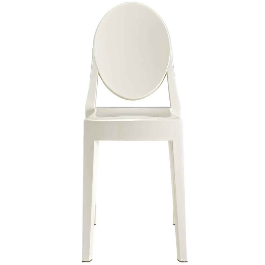 White Throne Side Chair 2
