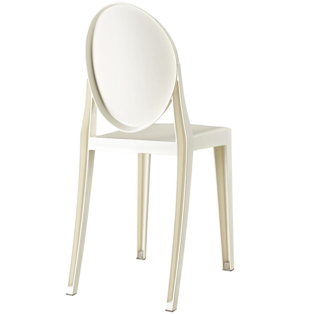 White Throne Side Chair