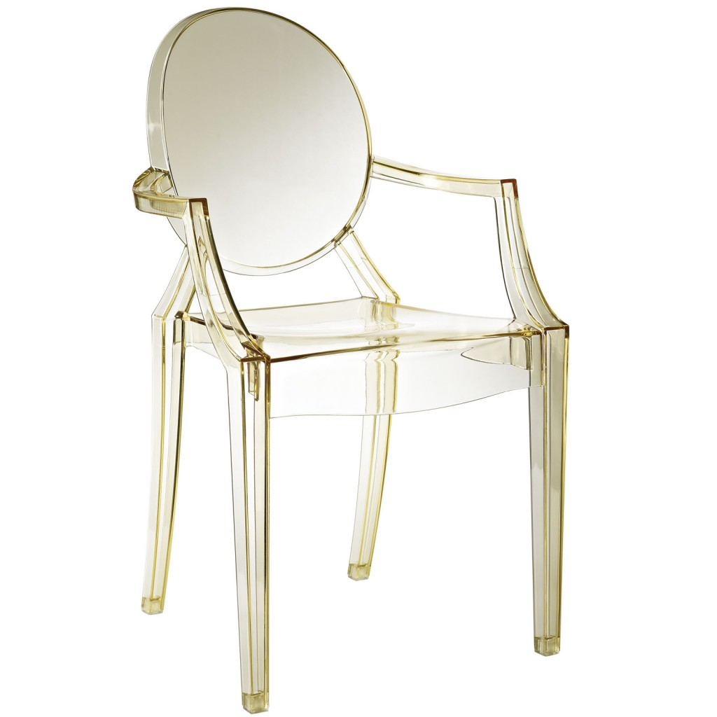 Yellow Transparent Throne Chair