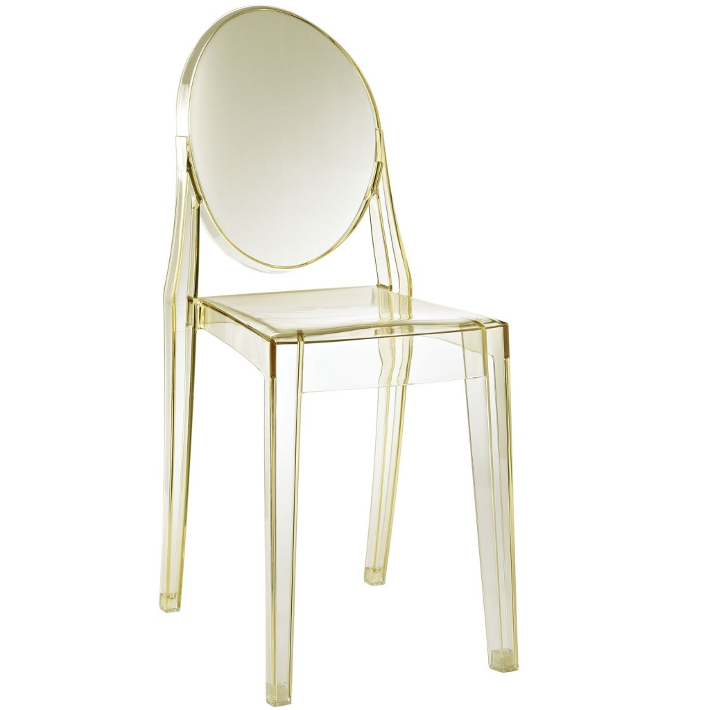 Yellow Transparent Throne Side Chair 3