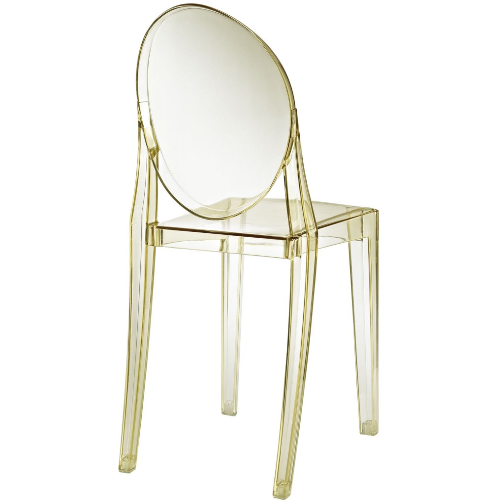 Yellow Transparent Throne Side Chair