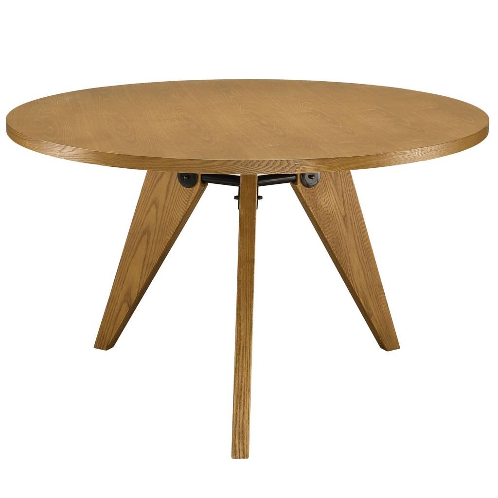 Grove Walnut Wood Round Dining Table