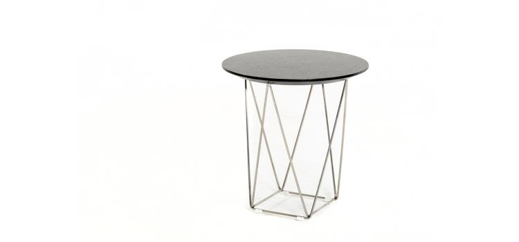 Wenge Wood Wire Side Table