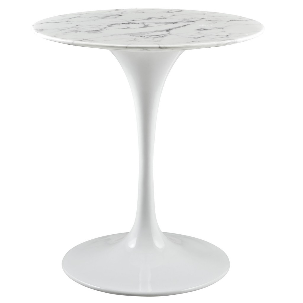 Brilliant White Marble Table 28 inch