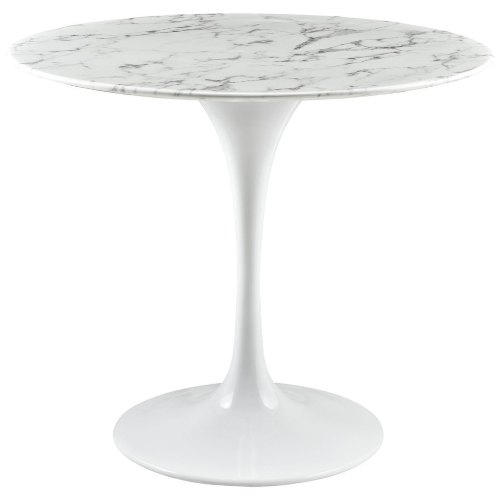 Brilliant White Marble Table 36 inch