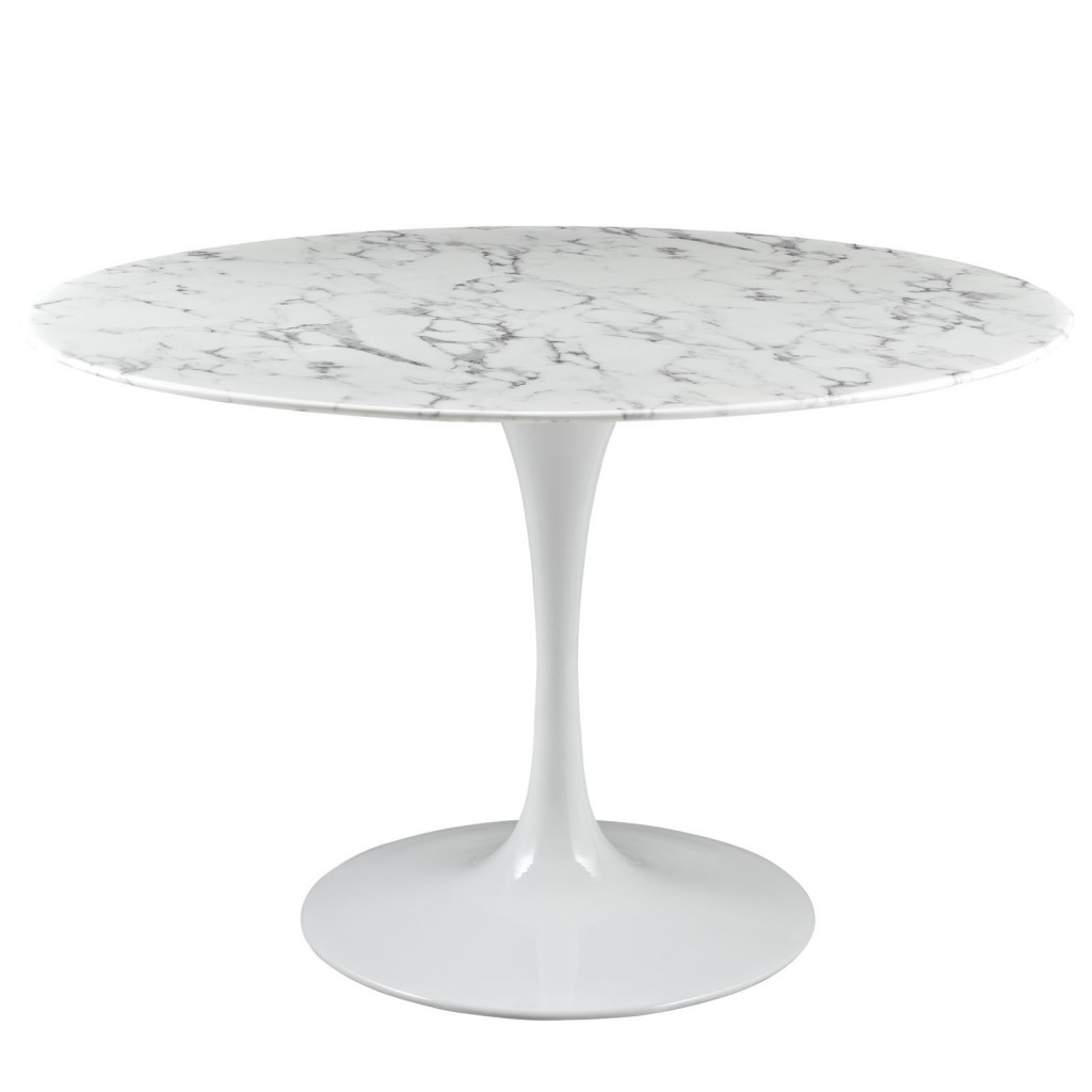 Brilliant White Marble Table 48 inch