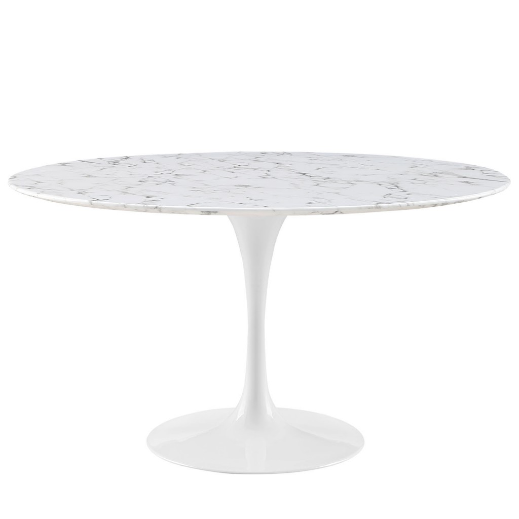Brilliant White Marble Table 54 inch