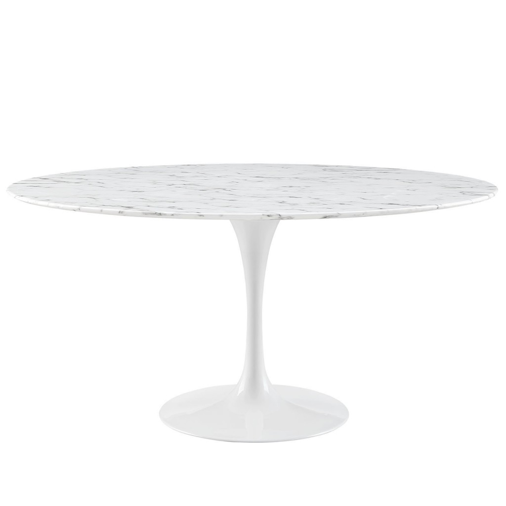Brilliant White Marble Table 60 inch