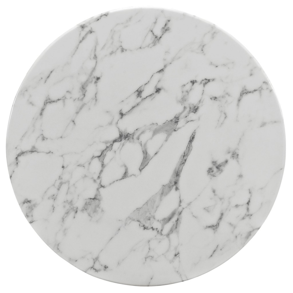 Brilliant White Marble Table Modern Furniture Brickell