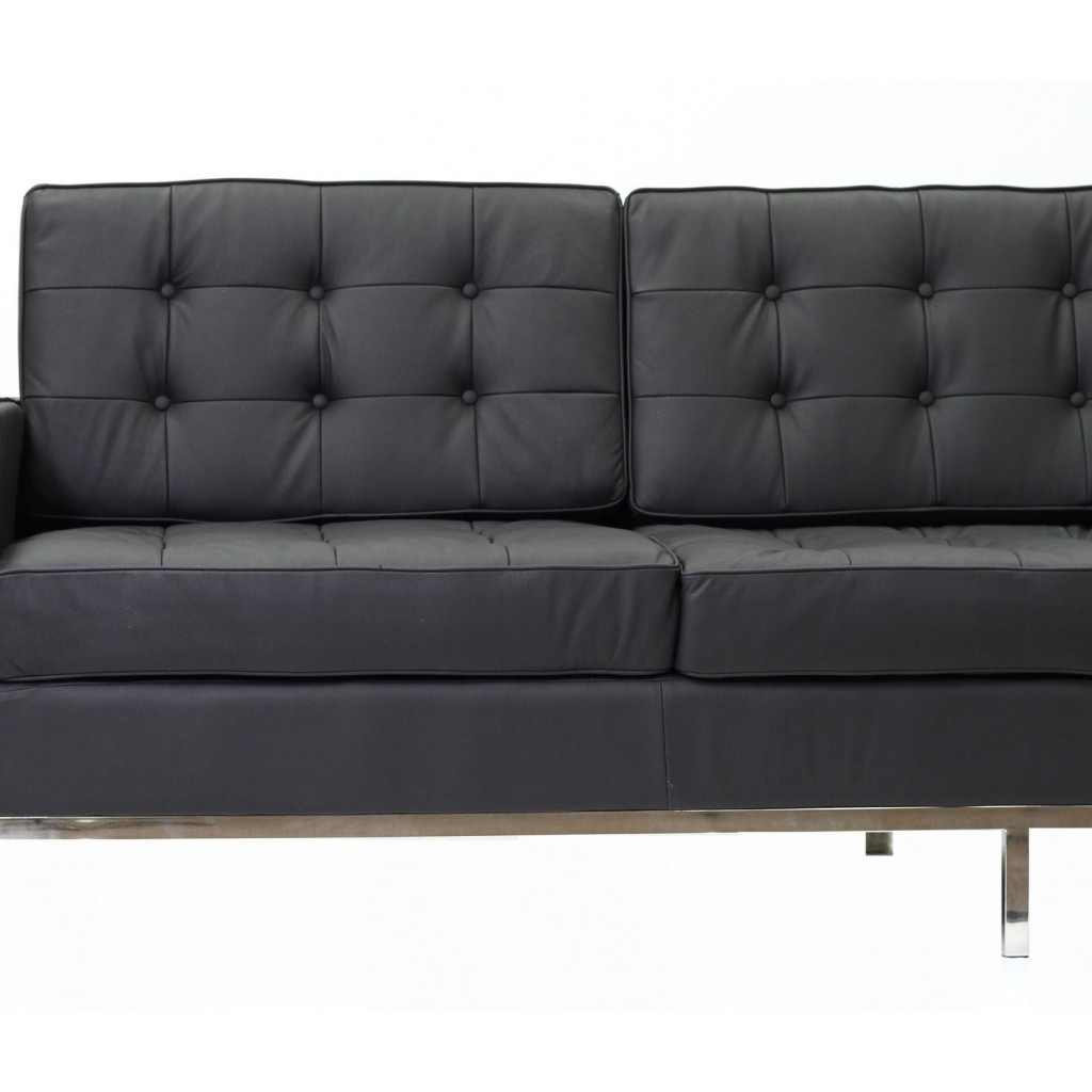 Bateman Leather Sofa | Modern Furniture • Brickell Collection