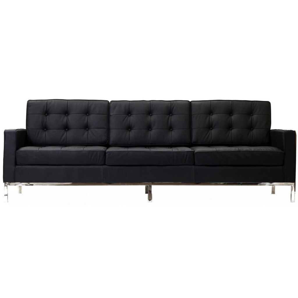 Black Bateman Leather Sofa