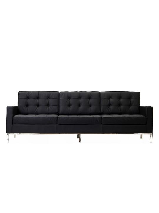 Black Bateman Leather Sofa1
