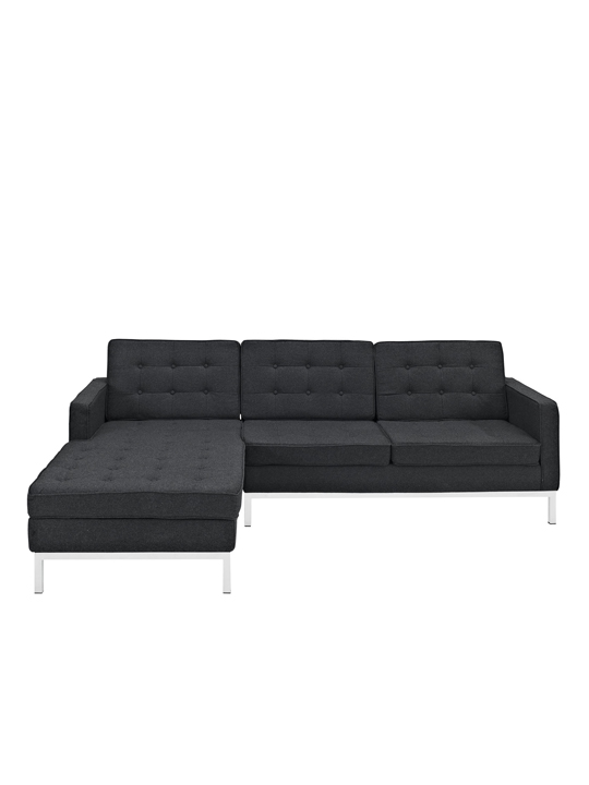 Dark Gray Bateman Wool Left Arm Sectional